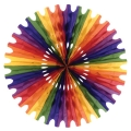 Rainbow Coloured Tissue Fan